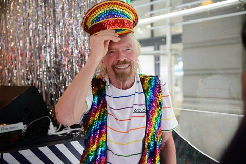 sir richard branson celebrates pride and announcement of lgbtq virgin voyages charter with atlantis events