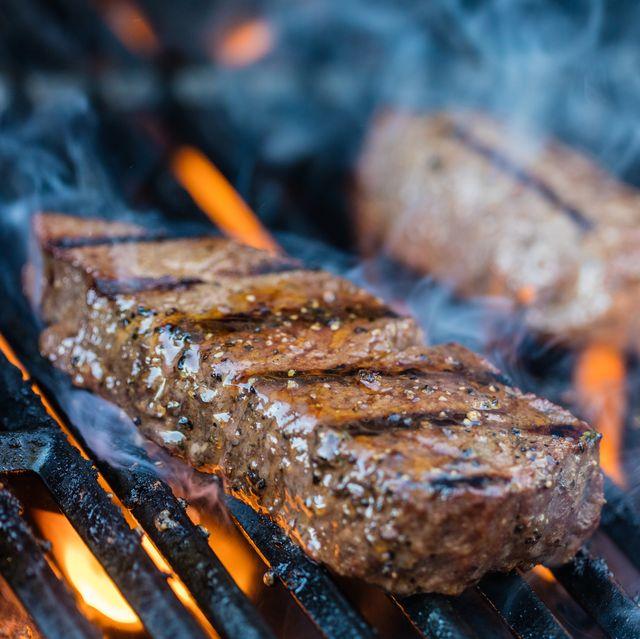Sirloin steaks on the bbq