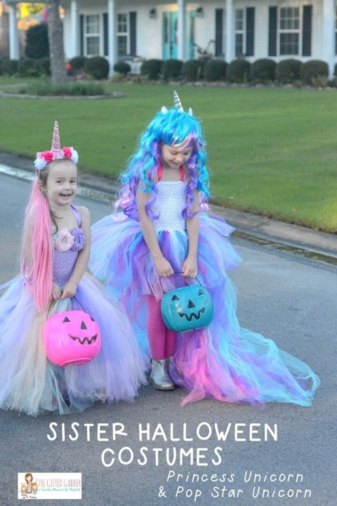 sisters halloween costumes unicorns