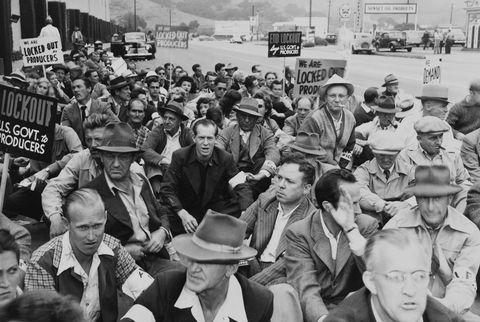 Sit Down Strikes At Warner Bros Studio At Los Angeles In Usa On 16Th October 1945