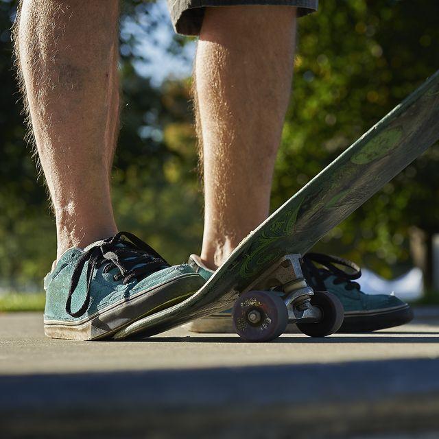 skateboarder closeup