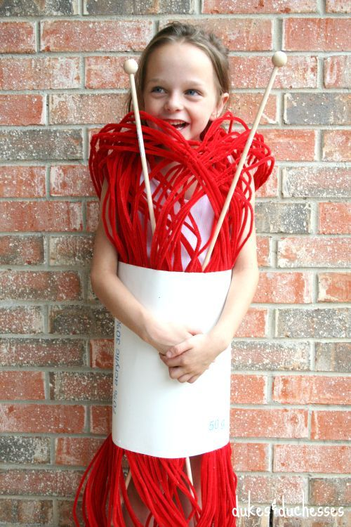 yarn halloween costume kids