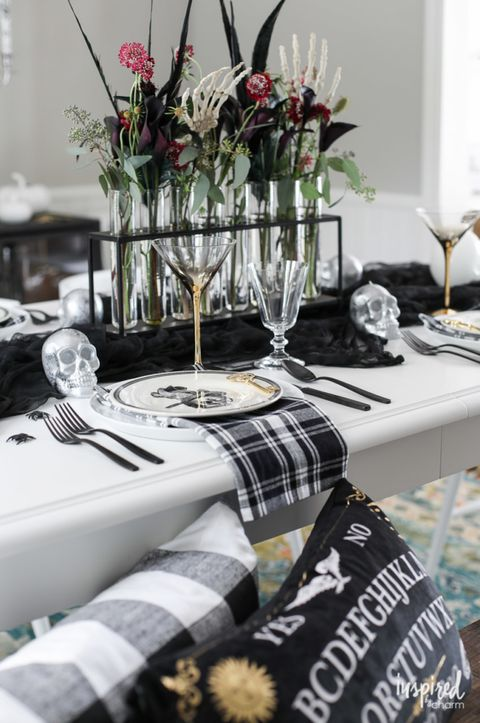 skeleton halloween centerpiece