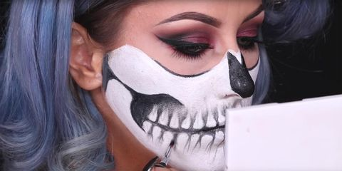 Halloween Make Up Skelet.This Skeleton Skull Makeup Tutorial Is Perfect For Halloween