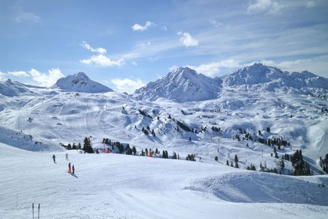 Snow, Mountain, Mountainous landforms, Piste, Mountain range, Winter, Alps, Winter sport, Recreation, Skiing,
