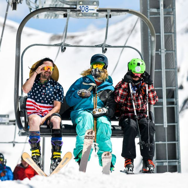 skiers and snowboarders enjoy spring conditions at arapahoe basin over memorial day weekend