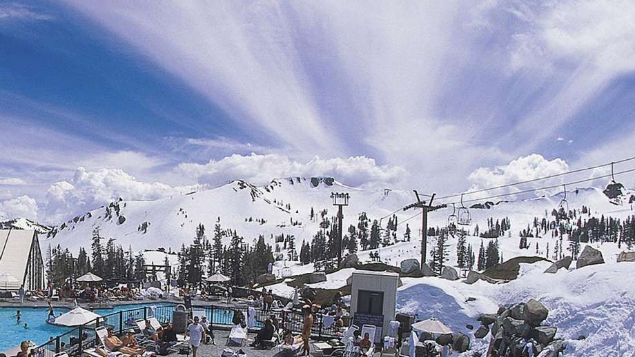 The 50-person hot tube at Squaw Valley's High camp opens for the spring season on St. Patrick's Day weekend.