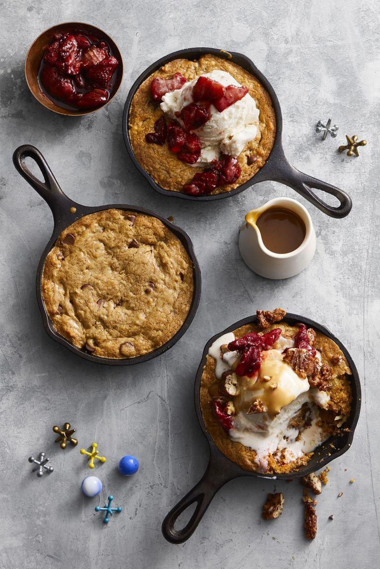 Skillet Cookie Sundaes - Valentine's Day Cookies