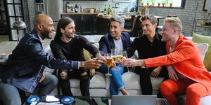 Cast of Netflix's Queer Eye: Karamo Brown, Jonathan Van Ness, Tan France, Bobby Berk, and Antoni Poworski