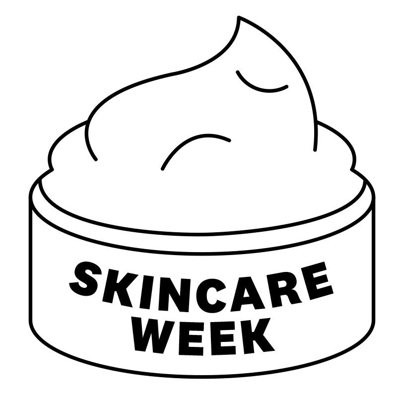 Skin-care week badge