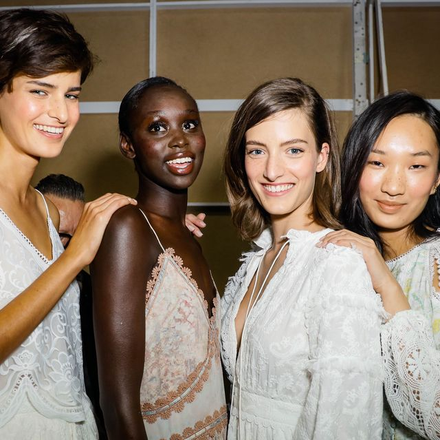 sydney, australia   june 01 editors note a special effects camera filter was used for this image  models prepares backstage ahead of the ixiah show during afterpay australian fashion week 2021 resort '22 collections at carriageworks on june 01, 2021 in sydney, australia photo by hanna lassenwireimage