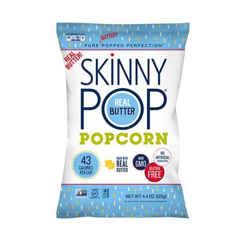 Skinny Pop real Butter popcorn