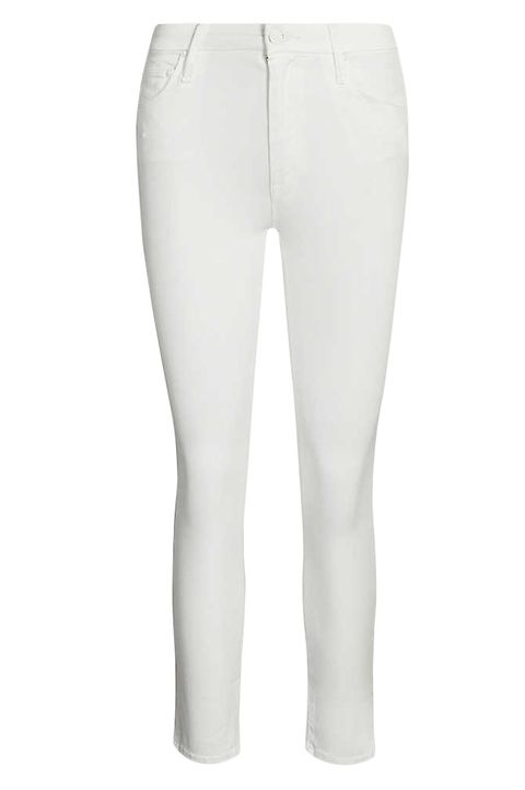 MOTHER Looker cropped skinny high-rise jeans selfridges