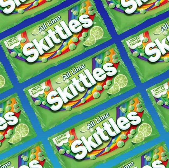all lime skittles