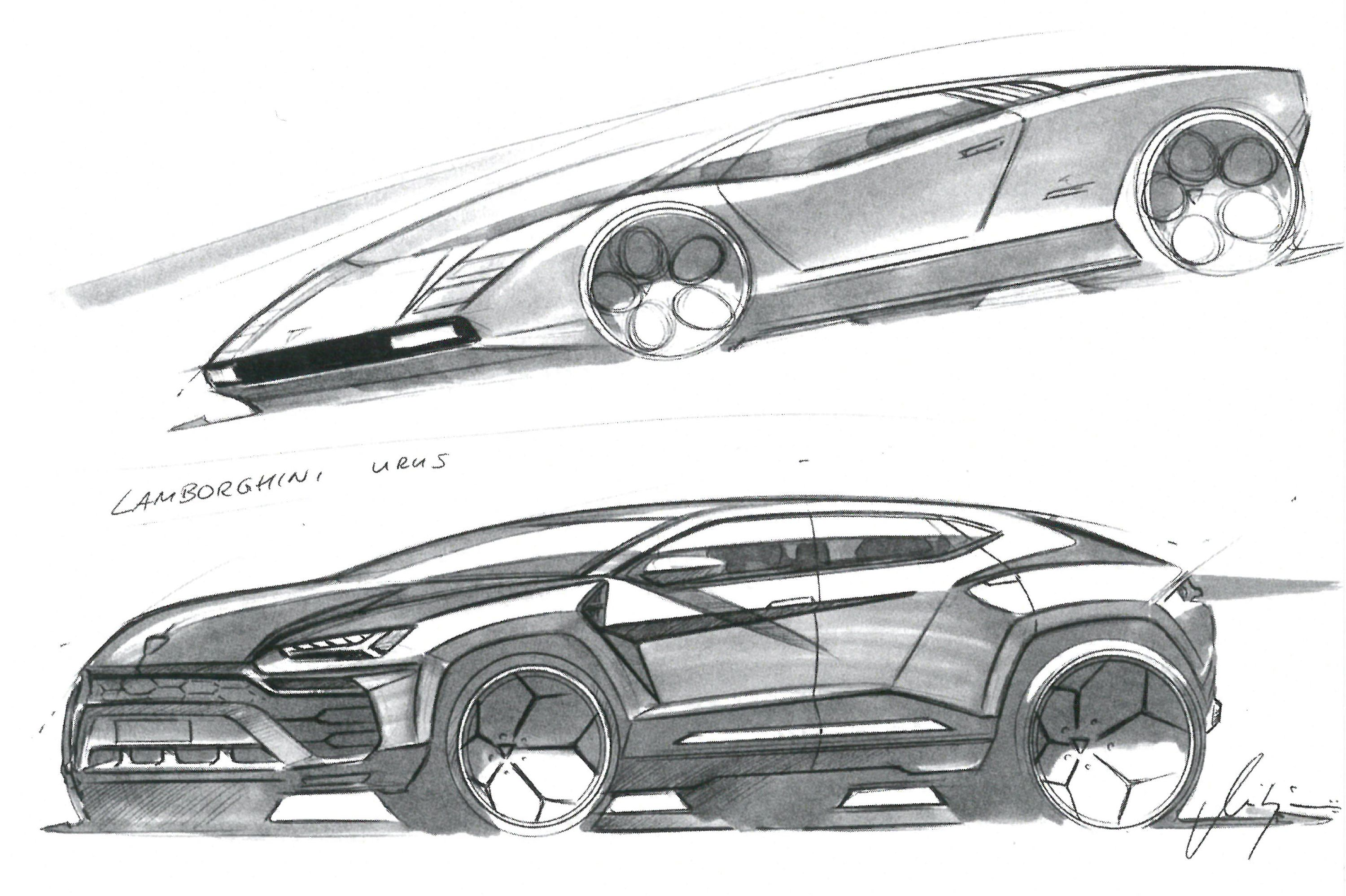 how to make an suv look like a lamborghinione of borkert\u0027s sketches which features a countach, based on marcello gandini\u0027s 1971 prototype, and the urus lamborghini