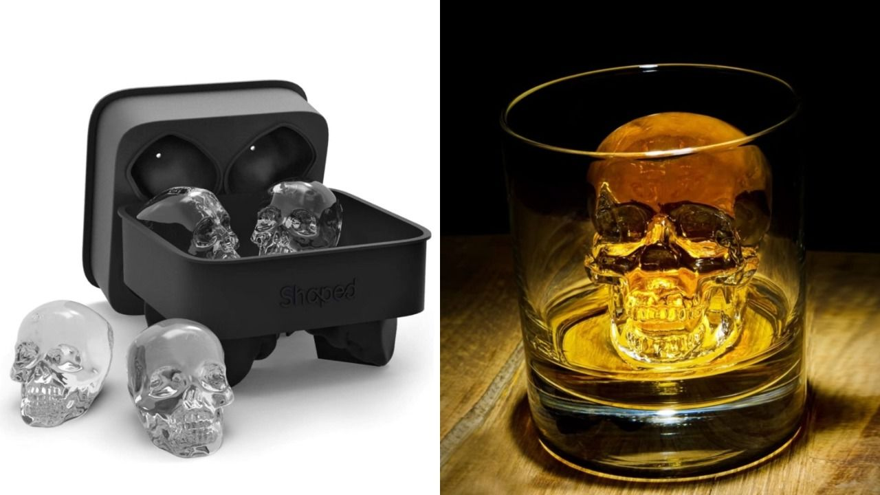 This 3d Skull Ice Cube Tray Is Ideal For Halloween Themed Drinks