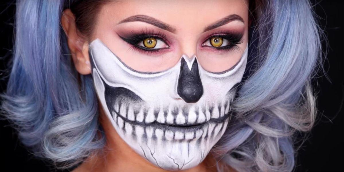 Skeleton Halloween Makeup Look Skull Costume Tutorial
