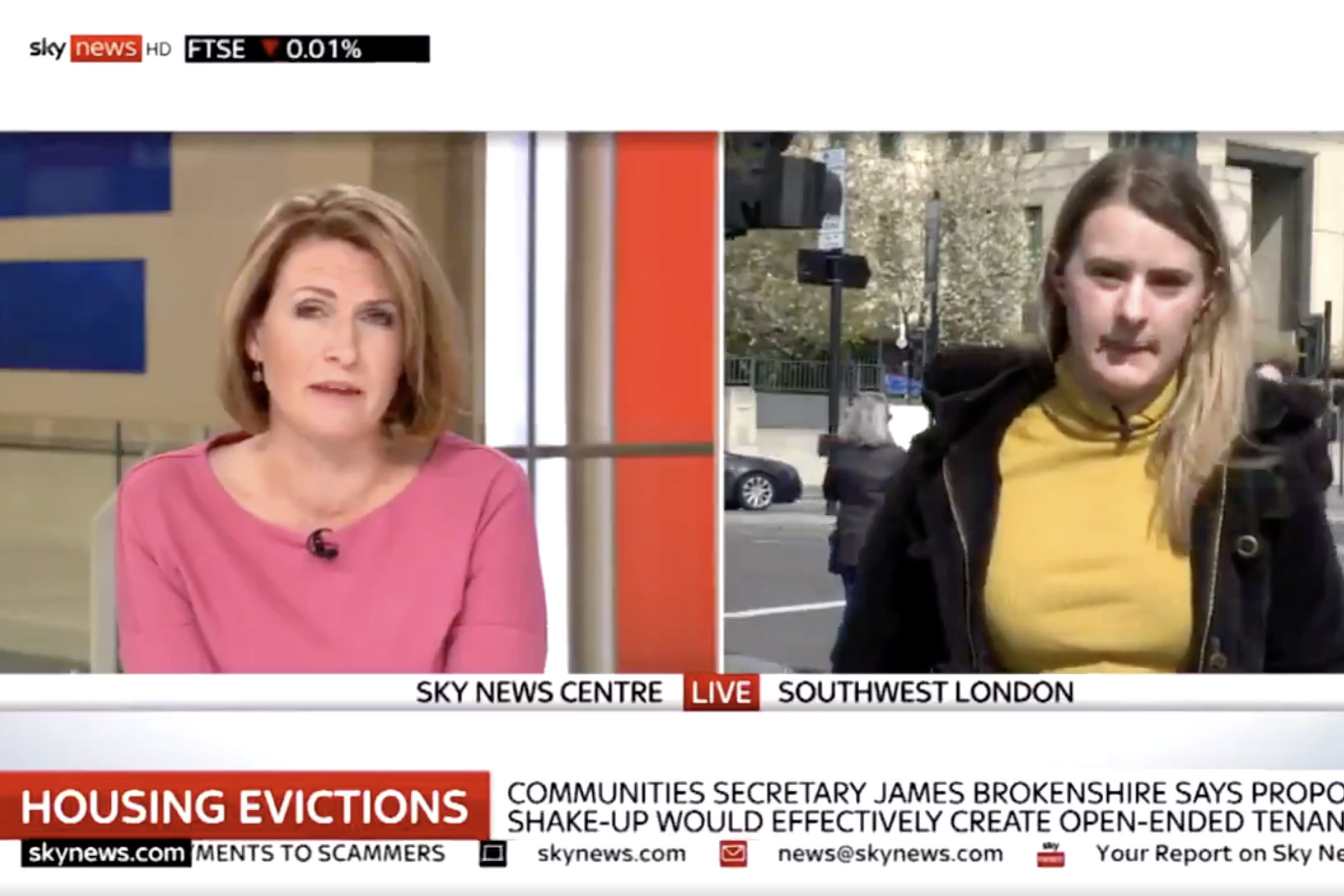 """Sky News presenter called """"patronising"""" by guest in awkward live TV argument"""