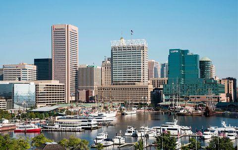 Skyline and Inner Harbor, Baltimore, Maryland