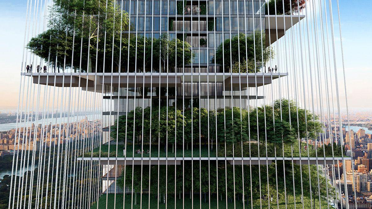 Una rascacielos-jardín sostenible para la ciudad de Nueva York