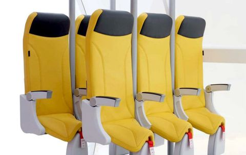 Yellow, Product, Car seat, Chair, Vehicle, Personal protective equipment, Outerwear, Auto part, Head restraint, Furniture,