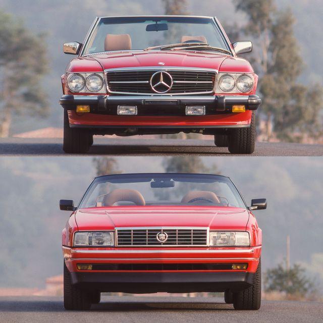 1989 cadillac allante, 1989 mercedes bez 560sl