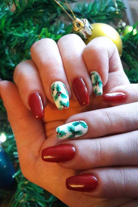 Christmas Nail Art - 36 Festive Christmas Nail Art Ideas - Easy Designs For Holiday Nails