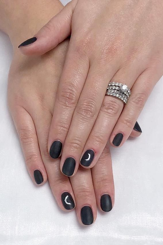 Crescent Moon Fall Nail Design