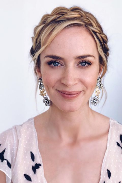 Emily Blunt Crown Braid