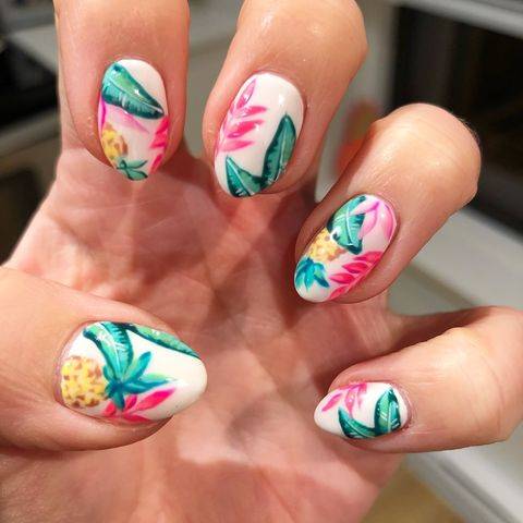 Pineapple Nails - Best Summer Nail Designs