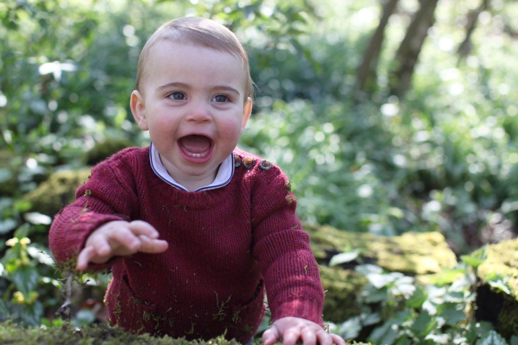 Prince Louis' First Birthday Photos Were Released by Kensington Palace