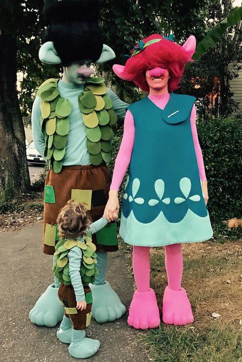 Jessica Biel and Justin Timberlake Trolls Halloween Costume