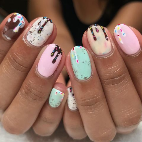 Ice Cream Nails - Best Summer Nail Designs