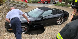 Chevrolet Corvette in Sinkhole