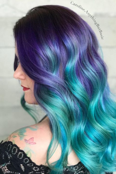 12 Mermaid Hair Color Ideas Amazing Mermaid Hairstyles For 2020