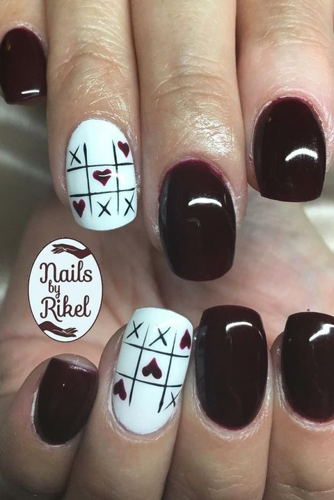 Valentines Day Nails 2019 Coffin Shape