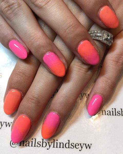 Sunset Ombre Nails - Best Summer Nail Designs