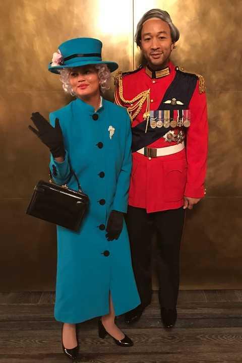 Chrissy Teigen John Legend Queen Elizabeth Prince Philip Halloween Costumes