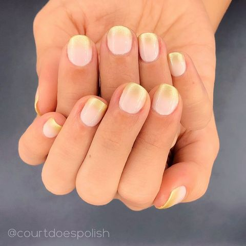 Gold Tips Best Spring Nail Designs