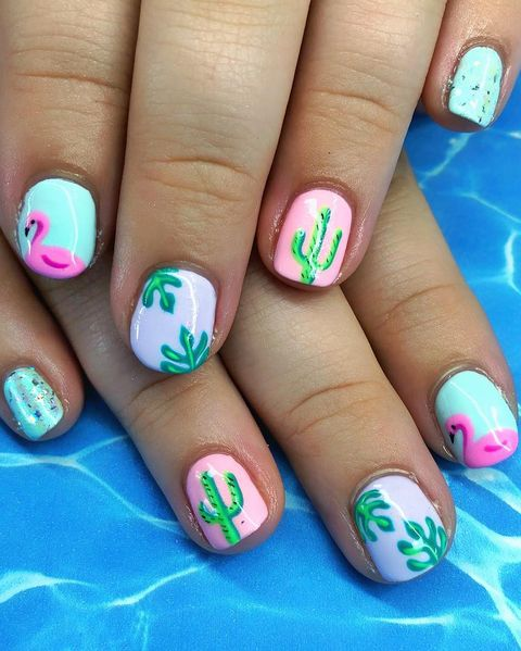 Flamingo - Best Summer Nail Designs