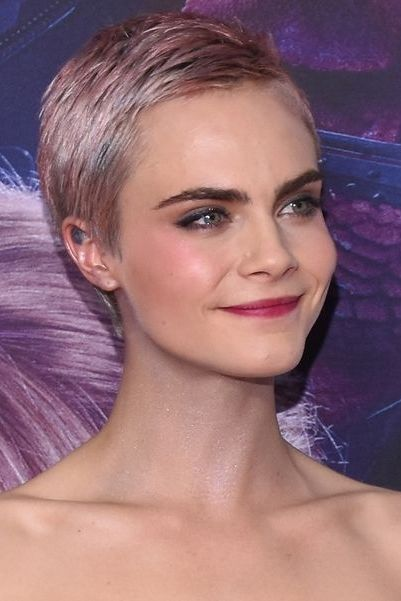 Hair, Face, Eyebrow, Hairstyle, Beauty, Blond, Purple, Lip, Chin, Violet,