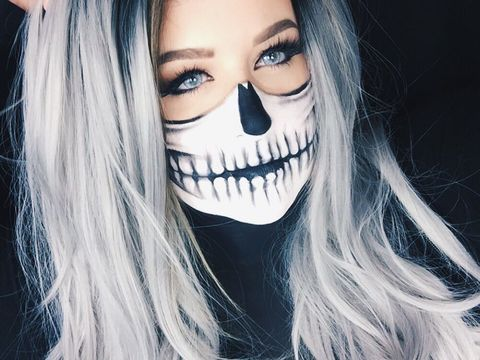 Skeleton Face Paint Tutorial For Halloween 2020 Pretty Skeleton Makeup Easy