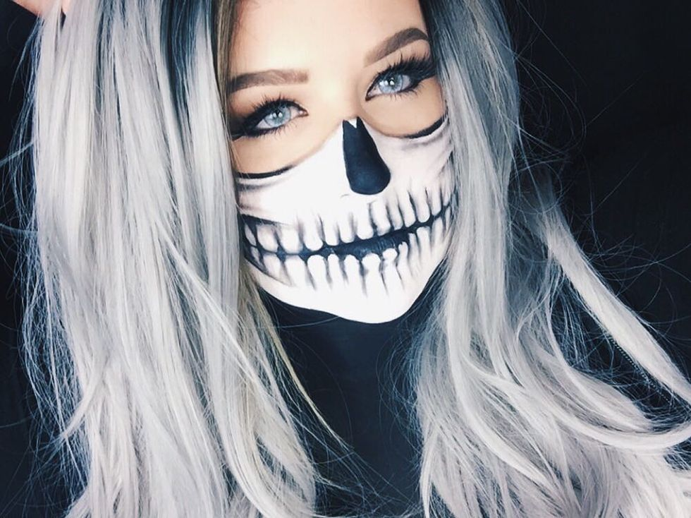This Cool Skeleton Face Paint Tutorial Is Actually Easier Than You Think