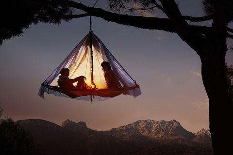 slapen in een boom in duitsland