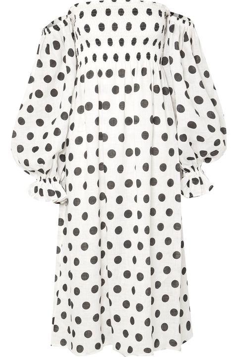 Sleeper black and white polka dot dress Zara viral