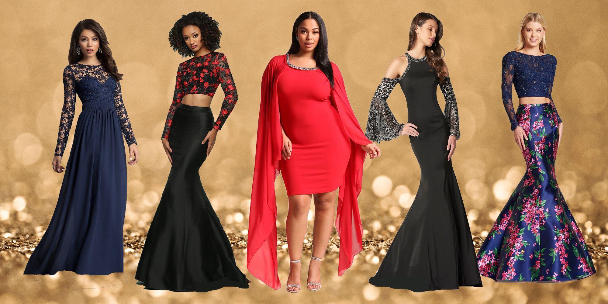 Elegant Long Sleeve Prom Dresses
