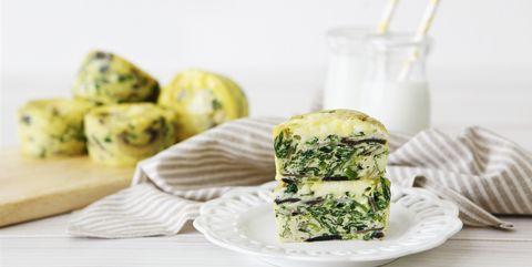 Sliced Frittata Egg Muffin