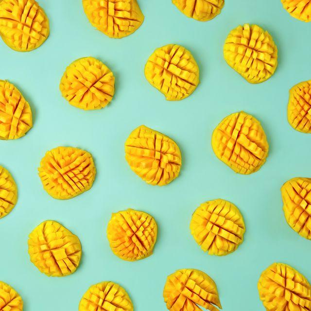 Sliced Mangos in Polka Dot Pattern