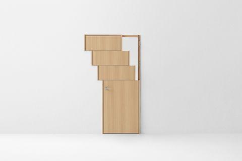Los 7 conceptos de una simple puerta de madera