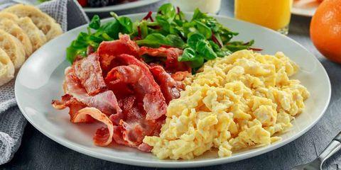 Dish, Food, Cuisine, Meal, Ingredient, Scrambled eggs, Breakfast, Full breakfast, Meat, Brunch,